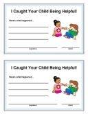 Kids Being Helpful award