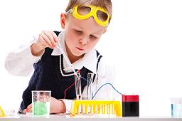 boy in lab