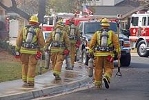 firemen at fir