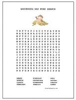 groundhogs day word search