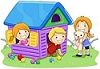 kids in playhouse