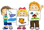 kids with drawings 1