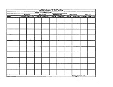 Daycare Attendance Record Form