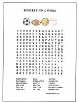 photo about Sports Word Search Printable known as Imagen Thorough The After Words and phrases With Suitable Match