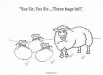 baa baa black sheep coloring page