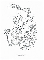 little bo peep coloring page