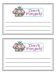 Daycare Parent Note