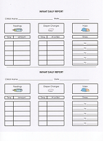 Daycare Infant Daily Report Form