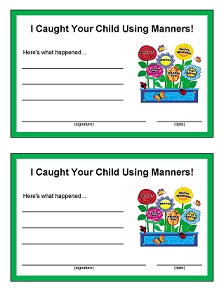 Kids Using Manners Award
