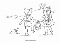 Jack And Jill Coloring Pages - Democraciaejustica