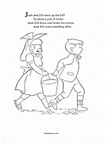 jack and jill coloring page