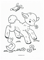 mary had a little lamb coloring page lamb coloring page