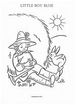 little boy blue coloring page