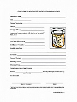 Daycare Prescription Medication Form