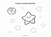 twinkle twinkle little star coloring page