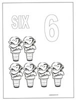 number six coloring page - Number Coloring Pages