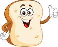 cartoon toast slice