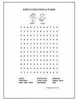 kids games word search