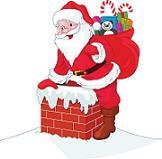 santa and chimney