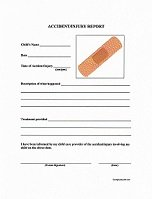Daycare Accident/Injury Report Form  Free Printable Incident Reports