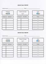 picture regarding Free Printable Infant Daily Sheets identify Daycare Types - Little one Every day Short article