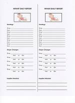 picture regarding Free Printable Infant Daily Sheets referred to as Daycare Sorts - Newborn Every day Posting