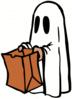 halloween ghost with ba