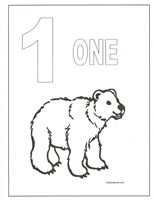 number coloring pages - Number 1 Coloring Page